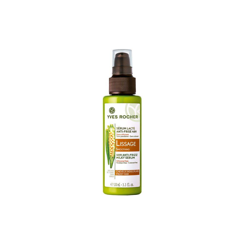 سرم نرم کننده و ضد وز ۴۸ ساعته ایوروشه دارای بافت شیر مانند جهت درمان ساقه های مو جلوگیری از وز شدن تارهای مو با حفظ رطوبت در مدت ۴۸ ساعت
