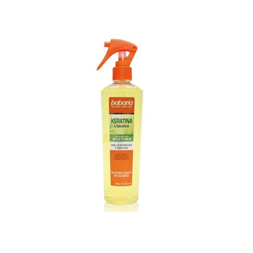 اسپری کراتین خانگی باباریا این محصول کاملا اختصاصی حاوی مقادیر قابل توجهی به همراه ویتامین B7 راه حل خانگی و سریع جهت درمان موهای آسیب دیده و وز شده